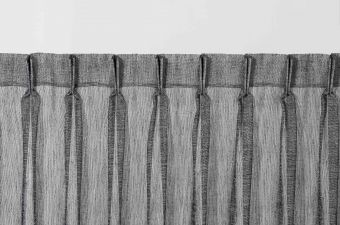 Curtains stacking / pleating - double
